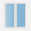Vector illustration double casement plastic window