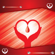 Abstract blood donor background