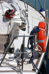 Equipment in sailboat