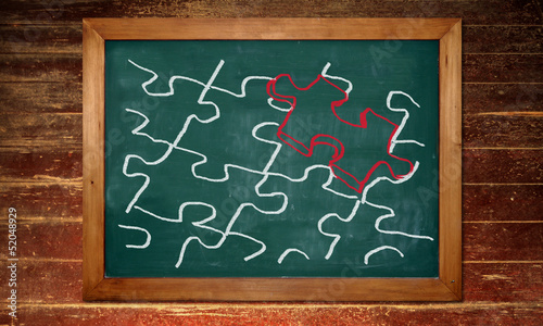 Kreidetafel - Puzzle