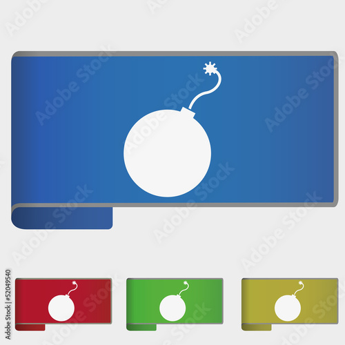 Vector illustration web bookmark - bomb