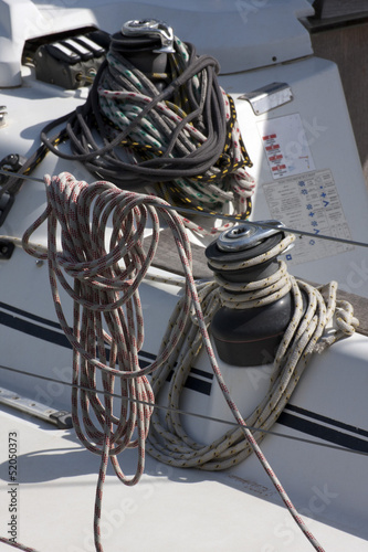 Ropes in the sailboat