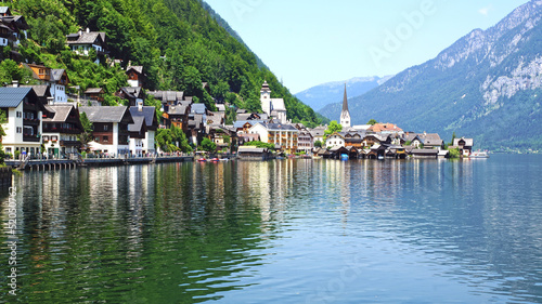 View on the Hallstatt and Hallstatter See. Upper Austria