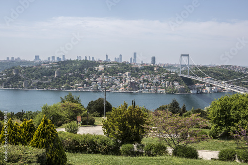 Bosphorus view from Otagtepe in Istanbul