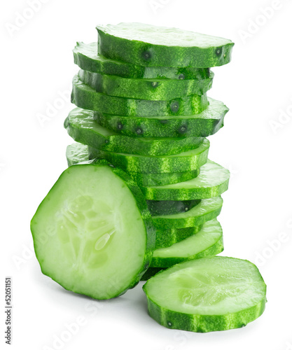 Fresh slice cucumber