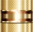 Abstract background gold glossy metallic.