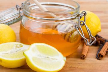 citrus honey in jar
