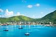 Leinwanddruck Bild - Beautiful panorama of Philipsburg, Saint Martin, Caribbean Islan