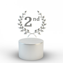 Second place on the podium 3d