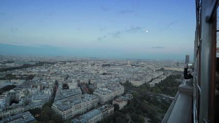 Панорамный вид на город с высоты Эйфелевой башни