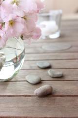 Kirschblüten und Wellness
