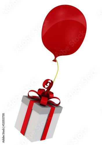 Подарочная коробка на воздушном шаре