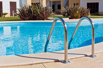 Outdoor Swimming pool with Ladder.