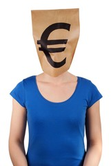 person with euro head