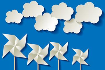 Papiermühle Hintergrund Blau Himmel Wolken