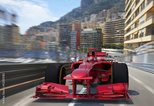 Tuinposter F1 red f1 racing monaco