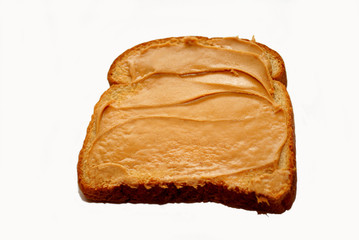 Peanutbutter on a Slice of Wheat Bread