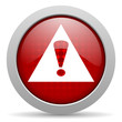 warning red circle web glossy icon