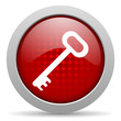 key red circle web glossy icon
