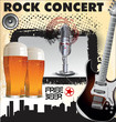 canvas print picture - Rock concert free beer