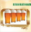 canvas print picture - Beer party