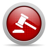 law red circle web glossy icon