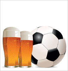 Football and beer background