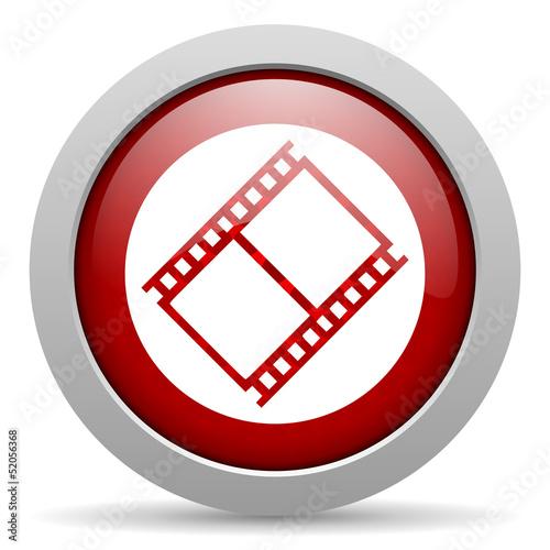 film red circle web glossy icon