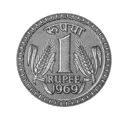 One rupee from note 1969