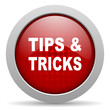 tips red circle web glossy icon