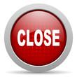 close red circle web glossy icon