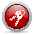 keys red circle web glossy icon