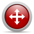 arrows red circle web glossy icon