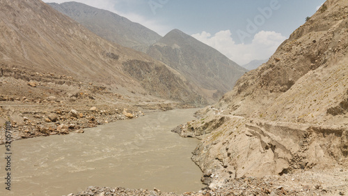 Raging Indus River, Pakistan