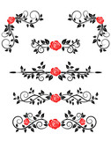 Roses with floral embellishments poster