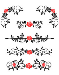 Roses with floral embellishments