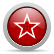 star red circle web glossy icon
