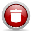recycle red circle web glossy icon