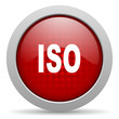 iso red circle web glossy icon