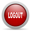 logout red circle web glossy icon