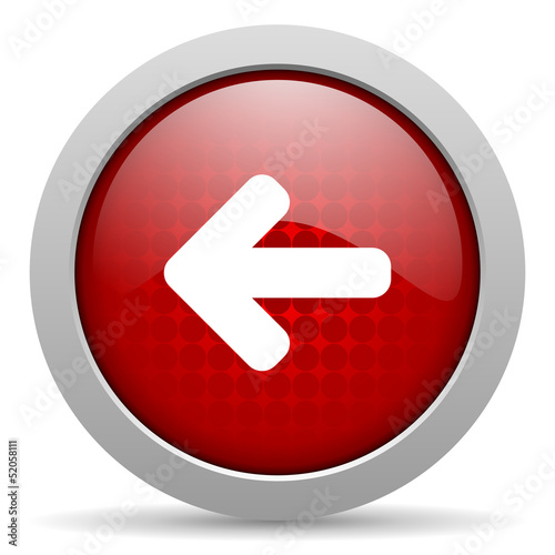 arrow red circle web glossy icon