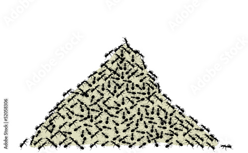 anthill on a white background