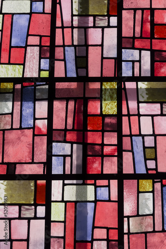 Colorful window glass