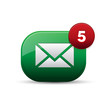 Email app button green
