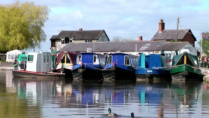 Narrow Boats - Norbury Junction, Staffordshire, England
