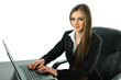 Business Woman Working at Desk