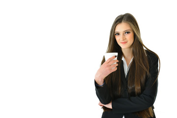 Business Woman with Beverage