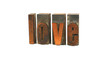 Love - Letterpress Word