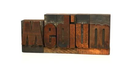 Medium - Letterpress Word