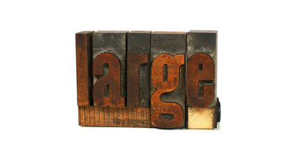 Large - Letterpress Word